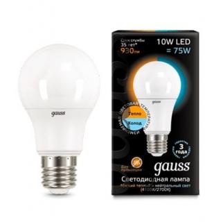 Диммируемая лампа Gauss LED A60 CTC