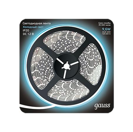 Светодиодная лента Gauss Black 2835/120-SMD